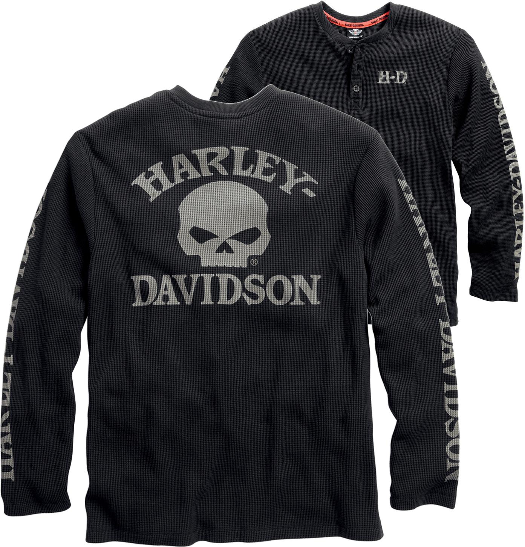 bbde7fc1 Harley-Davidson® Men's Willie G® Skull Waffle-Knit Henley 99032-15VM
