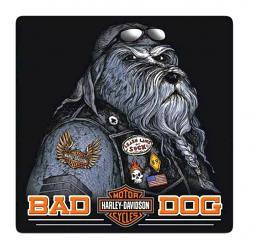 Harley-Davidson® Bad Dog Embossed Tin Sign   Rounded Corners