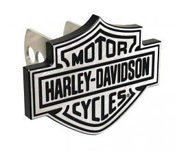 Harley-Davidson® Bar & Shield® Auto Hitch Plug   Silver & Black
