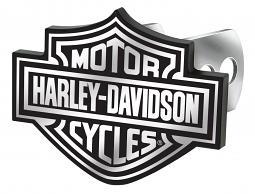 Harley-Davidson® Bar & Shield® Auto Hitch Plug in Black & White