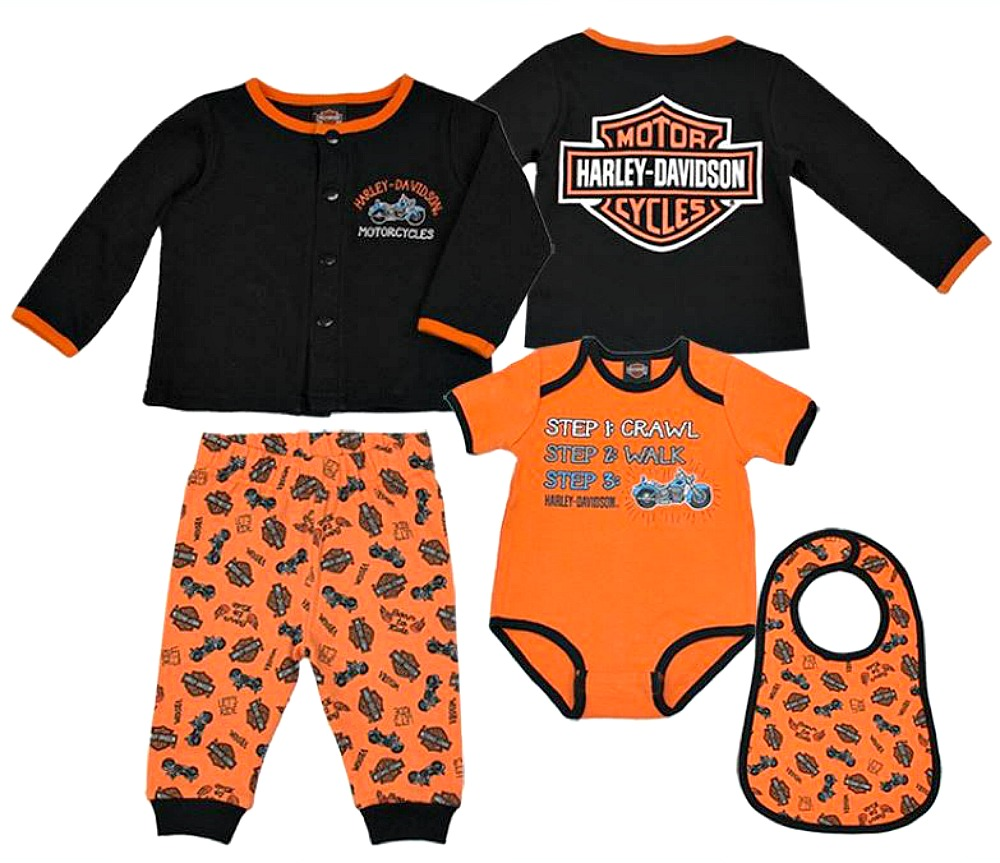 Harley-Davidson® Boys' 4 Piece Hanging Gift Set | 3 to 6 Month Size Only