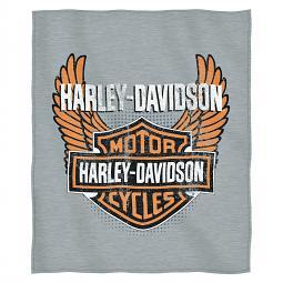 Harley-Davidson® Biker Badge Winged Bar & Shield® Sweatshirt Throw