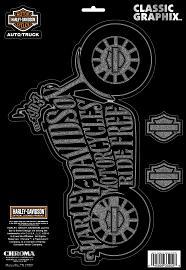 Harley-Davidson® Bike Silhouette Decal | Motorcycles Ride Free | Bar & Shield® | Large