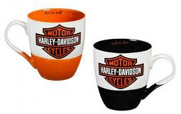Harley-Davidson® Ceramic Java Cup Gift Set   Bar & Shield® American Legend   Set of Two
