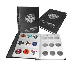 Harley-Davidson® Collectors' Poker Chip Album | Holds 54 Chips