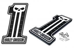 Harley-Davidson® Dark Custom Logo Shaped Cribbage Game Board with 12 Pegs