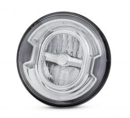"Harley-Davidson® Daymaker™ Signature Reflector LED Headlamp | Chrome 7"""