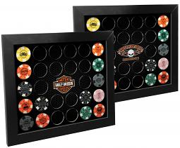 Harley-Davidson® Black 28 Poker Chip Collectors' Frame