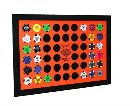 Harley-Davidson® Orange Poker Chip Frame | Collectors' Home Decor