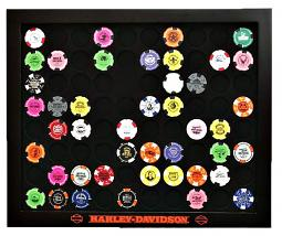 Harley-Davidson® Black 80 Poker Chip Collectors' Frame | Wall Mount