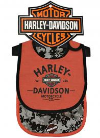 Harley-Davidson® Boys' Bib & Burp Cloth Set | 2 Pieces