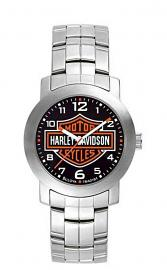 Harley-Davidson® Men's Bar & Shield® Stainless Steel Watch | Black Dial