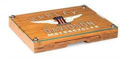 Harley-Davidson® Concerto Cheese Board | Bamboo | Winged #1 Logo