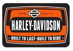 Harley-Davidson® Bike Tag Entry Rug   Round Corners   Non-Skid