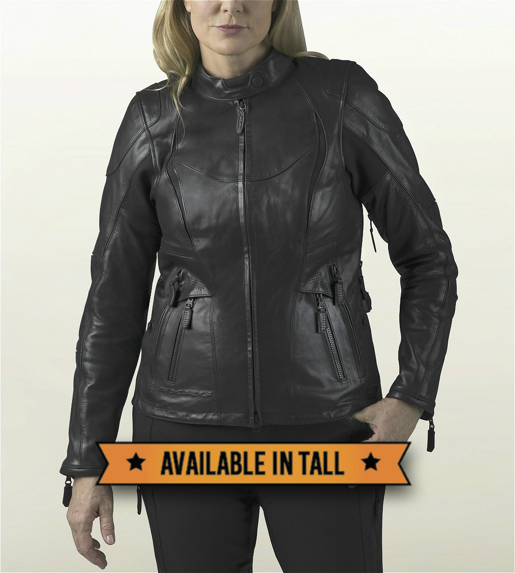 Harley-Davidson® Women's FXRG® Waterproof Leather Jacket | Triple Vent System™ | CoolCore® Technology