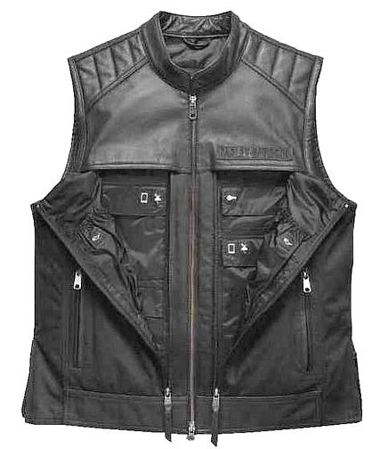 Harley-Davidson® Men's Synthesis Pocket System Vest | Leather & Cotton Canvas