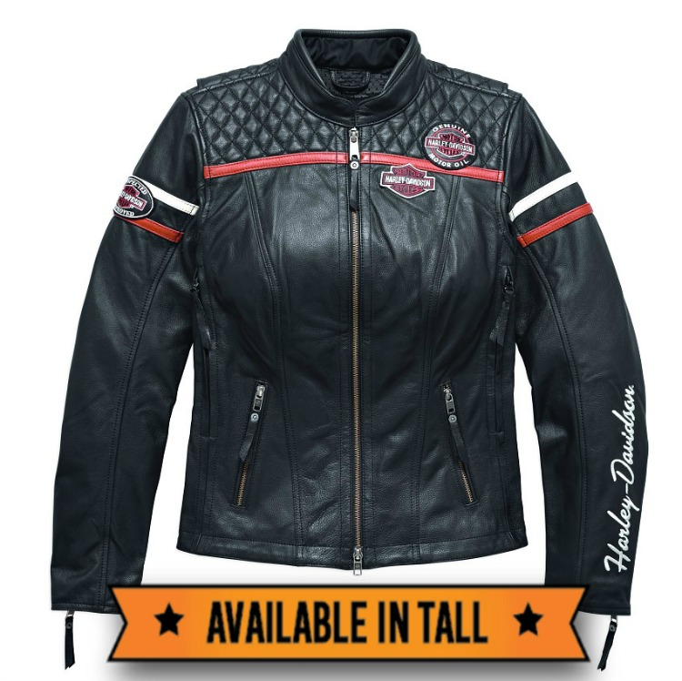 Harley-Davidson® Miss Enthusiast Triple Vent System Leather Jacket | Quilted Stitching