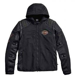 Harley-Davidson® Men's Sully 3-In-1 Convertible Mesh Riding Jacket | Vest | Removable Windproof Hoodie