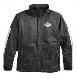 Harley-Davidson® Men's Rain Jacket Separate | Waterproof | Reflective | Includes Storage Bag