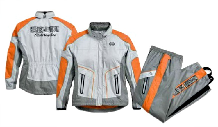 Harley-Davidson® Women's Midpoint Colorblock Rain Suit | Zip-Off Hood | Storage Bag Included
