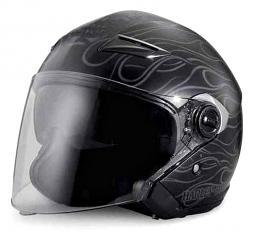 Harley-Davidson® Men's Splendor 3/4 Helmet | Sun Shield | Front & Back Vents | Matte Black