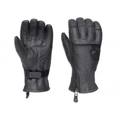 Harley-Davidson® Men's Admiral Under-Cuff Gauntlet Gloves | Zipper Closure | Adjustable Wrist Tab