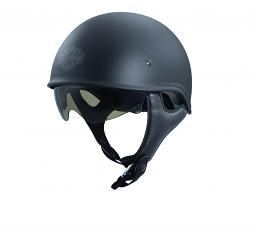 Harley-Davidson® Unisex Curbside X06 Half Helmet   Sun Shield   Matte Black