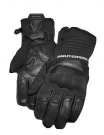 Harley-Davidson® Men's FXRG® Under-Cuff Gauntlet Gloves | Dual-Chamber | Zipper Closure | Adjustable Wrist Tab