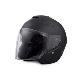 Harley-Davidson® Unisex Maywood Interchangeable Sun Shield 3/4 Helmet | Wear Three Ways | Matte Black