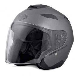 Harley-Davidson® Unisex Maywood Interchangeable Sun Shield 3/4 Helmet | Wear Three Ways | Matte Grey