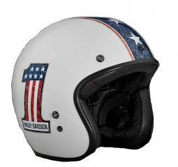 Harley-Davidson® Unisex 3/4 RWB Retro Helmet | Red White Blue | #1 Logo