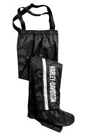 Harley-Davidson® Men's Black Rain Pants with Rain Gaiters | Waterproof