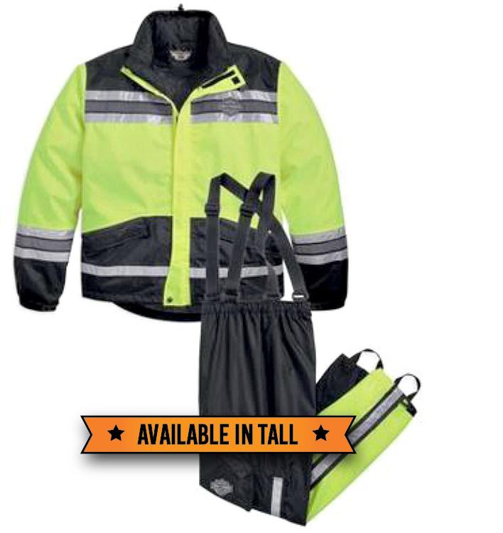Harley-Davidson® Men's Hi-Vis Rain Suit Yellow
