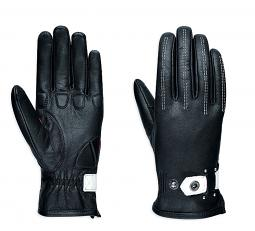 Harley-Davidson® Women's Compass Leather Gloves | Black and White