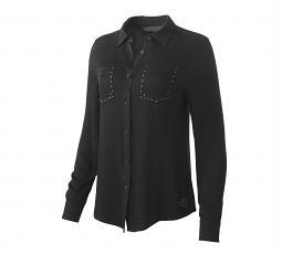 Harley-Davidson® Women's Stretch Rayon Shirt | Stud Embellished | Long Sleeves
