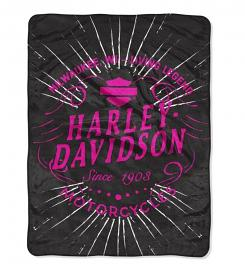 Harley-Davidson® Duo Fleece Throw Blanket
