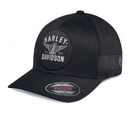 Harley-Davidson® Men's Winged Logo Stretch Fit Cap | Flexfit®