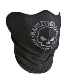 Harley-Davidson® Men's Willie G® Skull Neoprene/Fleece Face Mask | Adjustable Back Closure