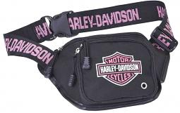 Harley-Davidson® Pink Bar & Shield® Belt Bag | Water Resistant