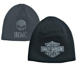 Harley-Davidson® Men's Reversible Knit Hat | Bar & Shield® Logo Patch | Debossed Willie G® Skull