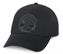 Harley-Davidson® Women's Skull with Rhinestones Baseball Cap