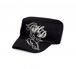 Harley-Davidson® Women's Flat Top Cap with Metallic Embroidery