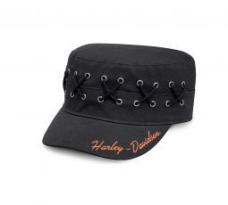 Harley-Davidson® Women's Laced Eyelet Flat Top Cap