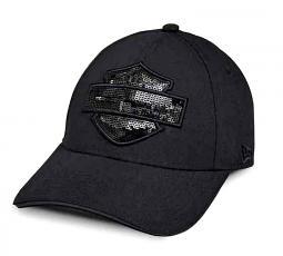 Harley-Davidson® Women's Tonal Sequin Logo 9FORTY® Baseball Cap | Bar & Shield® Silhouette | New Era®