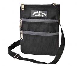 Harley-Davidson® Women's Black Crossbody Bag | Sling Bag | Hip Bag