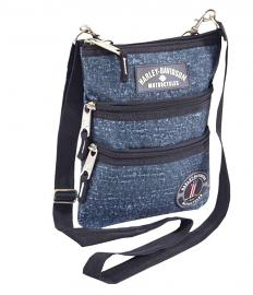 Harley-Davidson® Women's Blue Crossbody Bag | Sling Bag | Hip Bag