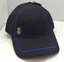Harley-Davidson® Men's Blue Line Baseball Cap | Bar & Shield® | Police Badge Detail