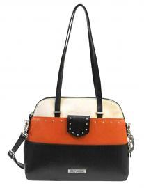 Harley-Davidson® Women's Alma Shoulder Handbag | Orange Colorblock Leather | Detachable Crossbody Strap