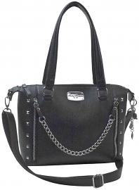 Harley-Davidson® Women's Chain Gang Leather Satchel | Detachable Shoulder Strap