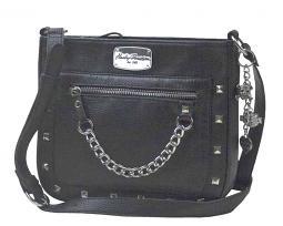 Harley-Davidson® Women's Chain Gang Leather Crossbody Bag | Adjustable Strap